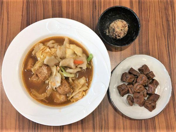 茄汁臭豆腐麵疙瘩 冰鎮豆干 紅燒獅子頭