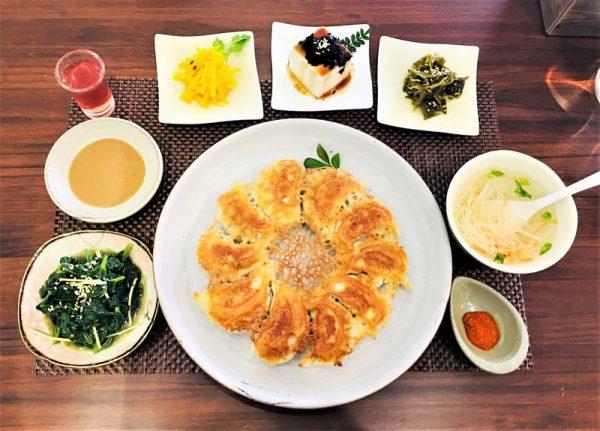 台東素食蔬食_夏安居_脆皮鍋貼套餐
