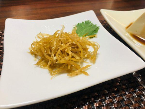 台東素食蔬食_夏安居_涼拌牛蒡絲