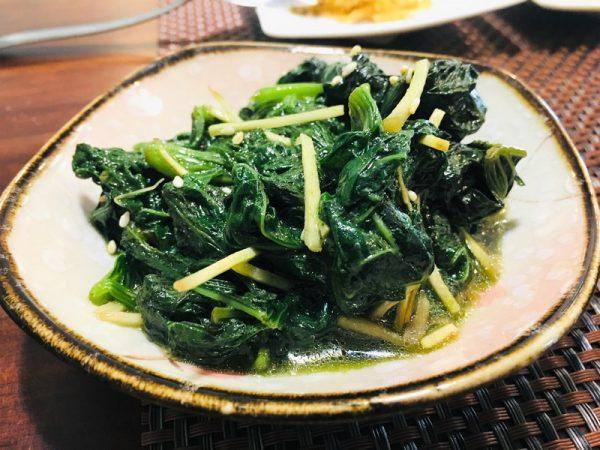台東素食蔬食_夏安居_薑絲芝麻地瓜葉