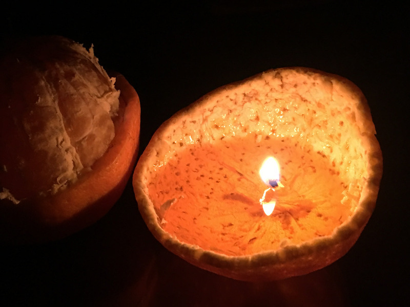 橘子植物蠟燭