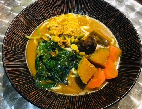 台東|池上 騎完腳踏車來碗咖哩麵吧-巧本味人文蔬食料理